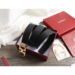 Ferragamo Men's Classic Horseshoe Buckle Business 3.5CM Belt