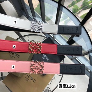 LOEWE Ms. New Double-sided Colorblock Anagram Belt 3.2CM