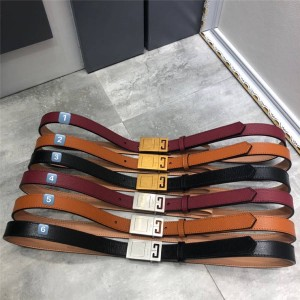 Givenchy Women's New Leather Square Buckle 2.0CM Belt