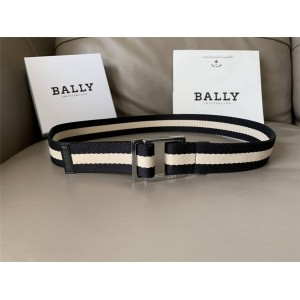 BALLY Classic Colorblock Stripe Canvas 4.0CM Men's Belt