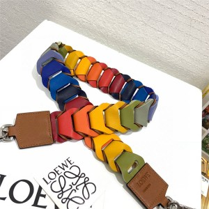 LOEWE colorblock leather Paula circles strap limited edition shoulder strap