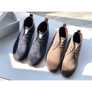 Calvin Klein / CK men's shoes middle help lace-up suede Martin boots