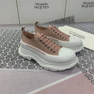 Alexander McQueen couple shoes TREAD SLICK canvas lace-up boots