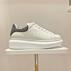 alexander mcqueen new leather kits rhinestone sneakers