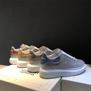 alexander mcqueen couple new crystal platform heightened sneakers