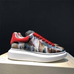 alexander mcqueen official website 3D painted printed sneakers