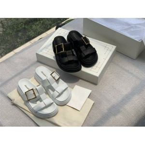 alexander mcqueen new leather double strap slippers sandals