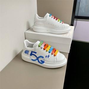 alexander mcqueen colorblock graffiti 5G heightening shoes sneakers