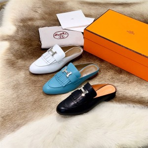 hermes official website new leather Rivoli Muller shoes H181066