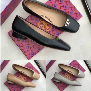 tory burch TB women's shoes new flat heel square toe flat shoes