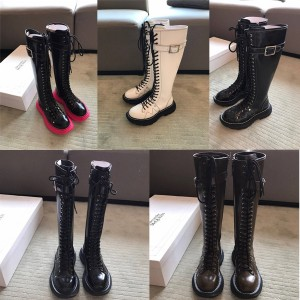 Alexander McQueen official new lace-up boots high-top knight boots