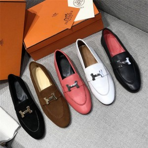 Hermes new women's shoes Trocadero Muller loafers