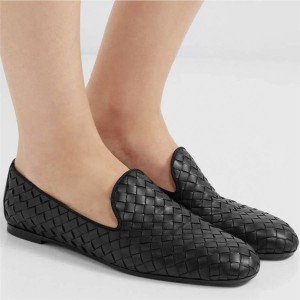 Bottega Veneta BV new intreccio woven lambskin slippers