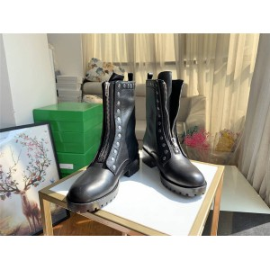 coach leather rivet Lara Bootie motorcycle boots G4464
