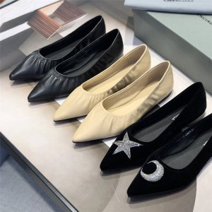 Balenciaga women's shoes star moon pointed beam single shoes