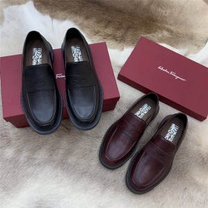 Ferragamo men's leather casual fashion PENNY loafer shoes