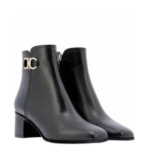 Ferragamo women's boots leather GANCINI short boots 732961