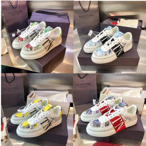VALENTINO men and women VL7N calfskin lace-up sneakers