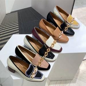 tory burch TB women's JESSA thick heel loafers high heels