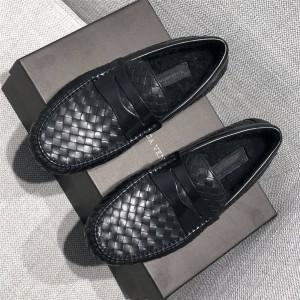 BOTTEGA VENETA BV men's shoes wool and velvet knit loafers
