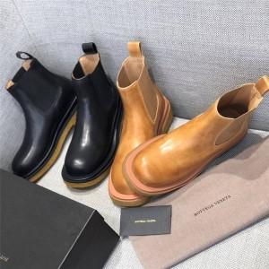 Bottega Veneta BV Women's Boots Women's Platform Leather Chelsea Boots