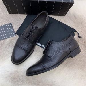 Zegna Men's new leather shoes FLEX Derby shoes