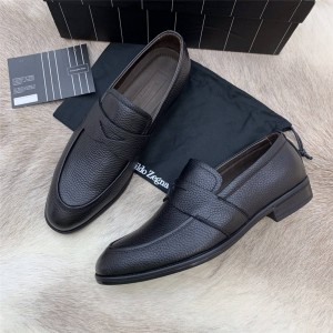Zegna men's new cowhide casual fashion shoes loafers