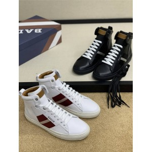 BALLY men's shoes new Hedern men's high-top sneakers
