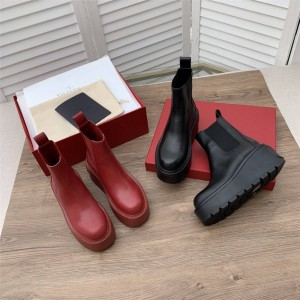 VALENTINO Increased Uniqueform Calfskin Big V Platform Shoes
