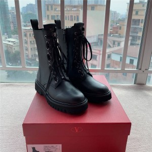 VALENTINO lace-up zipper motorcycle boots Martin boots ankle boots