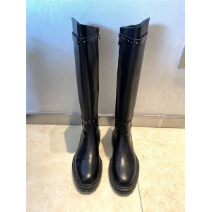 Givenchy new leather rivet high boots motorcycle boots