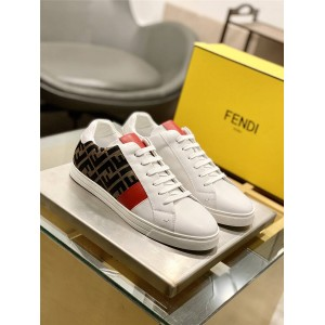 FENDI men's shoes presbyopia double FF pattern sneakers