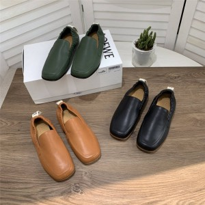 LOEWE men's shoes leather casual shoes loafers