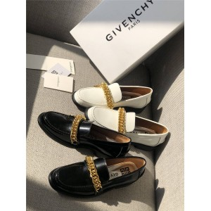 Givenchy women's shoes with chain leather loafers and mules