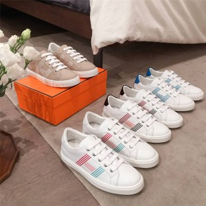 Hermes couple white shoes Avantage sneakers H201114