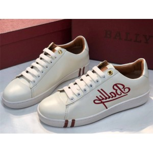 BALLY new embroidered white shoes WIERA sneakers