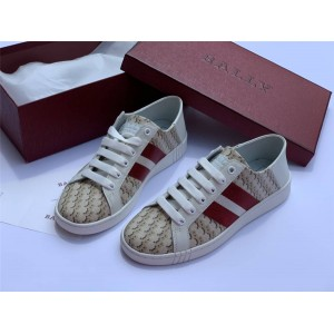 BALLY official website new BB printed canvas Wisen sneakers