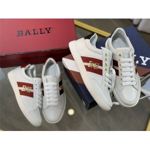 BALLY official website WIKY men and women white leather sneakers
