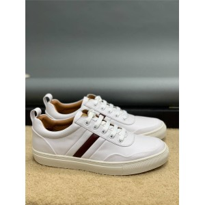 bally official website men's shoes leather striped casual sneakers