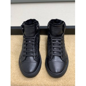 bally official website men's shoes warm wool high-top sneakers