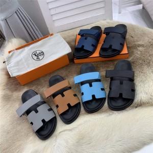 Hermes Men's Chypre Sandals Slippers H211908