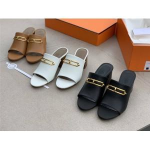 hermes Lady Camilla Mules Block Heel Sandals H211043
