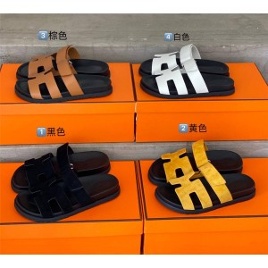 Hermes official website ladies Chypre sandals slippers