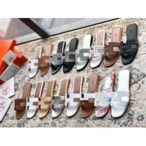 Hermes official website ladies H Oran sandals slippers