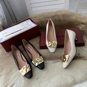 bally Claudie series LOLA hammered metal buckle shoes