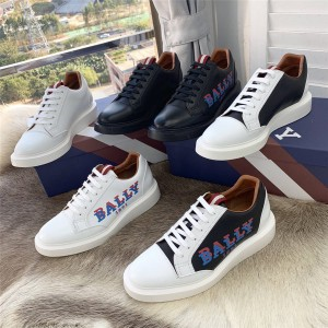 BALLY Lace Up Men's Shoes Logo Logo Sneakers