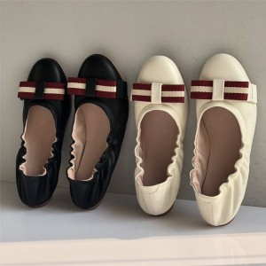BALLY official website ladies ballet shoes egg roll shoes