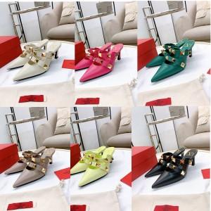 VALENTINO women's shoes Roman Stud calfskin mules