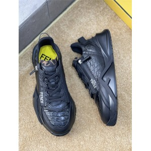 FENDI FLOW Men's Leather Low Top Sneakers 7E1392