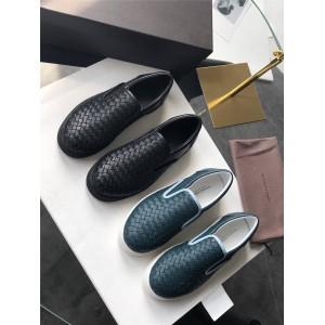 Bottega Veneta BV Men's Woven Leather Casual Shoes 190809